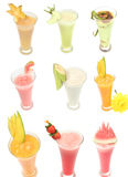 Many kind of juice. S isolated Royalty Free Stock Image