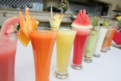 Many kind of juices Stock Photography