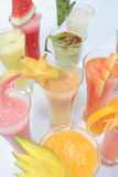 Many kind of juices Royalty Free Stock Photo