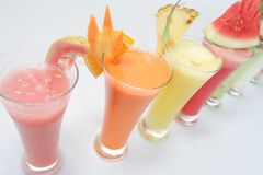 Many kind of juices Royalty Free Stock Image