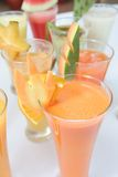 Many kind of juices Stock Images