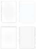 Many of kind new paper page Royalty Free Stock Photography