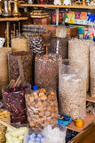 Many Kind of Spices in Spice Market at Souk, Dubai Royalty Free Stock Photography
