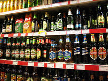 Many kinds of beers Stock Image