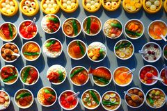Many kinds of Chinese food dishes Royalty Free Stock Photo