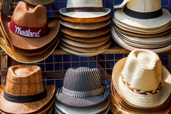 Many kinds of hats Royalty Free Stock Image
