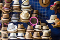 Many kinds of hats Stock Image