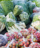 Many Kinds Of Vegetables Packed In A Plastic Bag Royalty Free Stock Photo