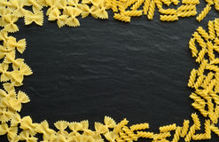 Many kinds of pasta Royalty Free Stock Image