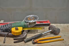 Many kinds of tools for construction Stock Images