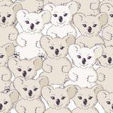 Many koalas seamless background Royalty Free Stock Photos