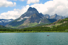 Many Lake and Glacier, Montana, US. This is one of the many spectacular views of the Rockies and glaciers and high mountain passes to be seen in North America Royalty Free Stock Photo