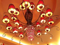 Many lamps hang the ceiling. royalty free stock images