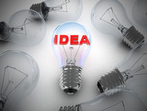 Many lamps and lamp idea Royalty Free Stock Photography