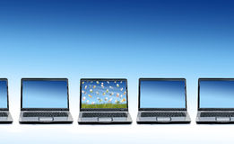 Many laptops. Royalty Free Stock Images