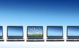 Many laptops. Royalty Free Stock Images