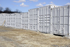 Many freight containers Royalty Free Stock Photography