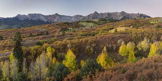 Many Layers of Color from the Dallas Divide stock image