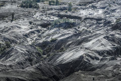 Many layers of sand dune on Bromo crater Stock Image