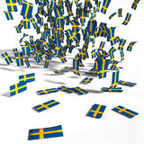 Many leaflets and flags of Sweden Stock Photography