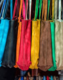 Many leather woman bags Stock Photography