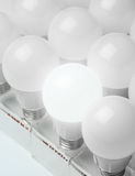 Many led lamps light science and technology background Stock Photo