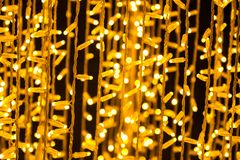 Many led light bokeh abstract background