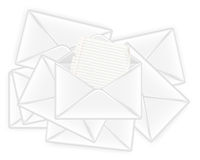 Many letters. Concept of post and email,  illustration Royalty Free Stock Photos