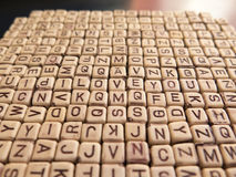 Many of the letters forming the inscription I LOVE YOU Royalty Free Stock Photography