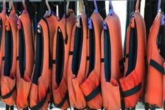Many life jackets. Stock Image