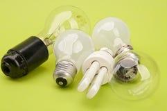 Many light bulbs. Royalty Free Stock Image