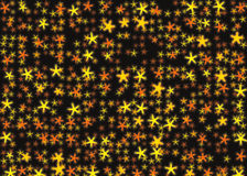 Many light yellow flying stars backgrounds Stock Images