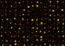 Many light yellow flying stars on black backgrounds. Many light yellow flying stars on a black backgrounds Royalty Free Stock Photography