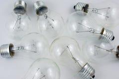 Many lightbulbs Stock Images