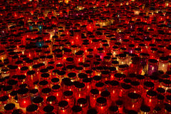 Many lighted candles Stock Image