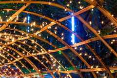 Many lights with bamboo frames. Royalty Free Stock Images