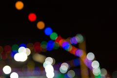 Many lights blurred background. Many lights blurred bokeh background in the night royalty free stock photography