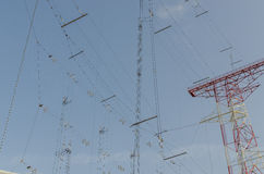 Many lines to transmitting system Stock Photo