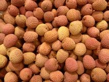 Many litchi friit sold at the market Stock Images