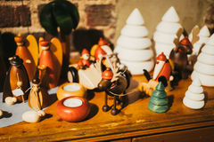 Many little Finland christmas toys Royalty Free Stock Photography