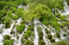 Many little waterfalls Stock Photo
