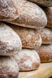 Many loaves of bread in a bakery. Many delicious loafs of bread in a bakery stock photo