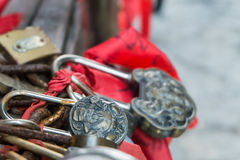 Many of Locks at Heaven Gate at the Tianmen Mountain royalty free stock images
