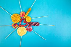 Many Lollipops On The Background. Royalty Free Stock Photography