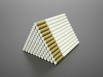 Many long cigarettes in pyramid Stock Photo