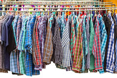 Many long-sleeved shirt. Royalty Free Stock Photography
