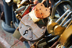 Many Love locks Stock Photography
