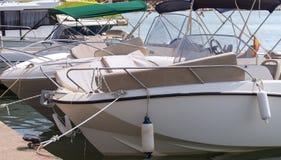 Many luxury boats. Royalty Free Stock Images