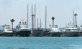 Many luxury yachts. Royalty Free Stock Images