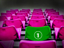 Many magenta and green 1st seat, winner concept. Stock Images
